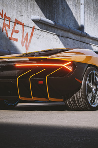 320x568 2021 Lamborghini Centenario Yellow Cgi Rear 4k
