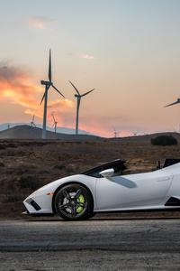 240x400 2021 Lamborghini Huracan Evo Rwd Spyder Sideview 8k