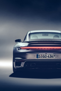 240x320 2021 Porsche 911 Turbo S Rear