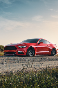 480x800 2021 Red Ford Mustang 4k