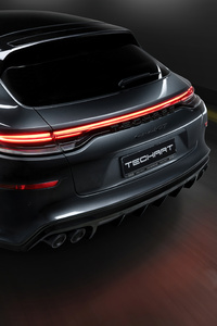 480x800 2021 Techart Porsche Panamera Sport Turismo Grand Gt Rear