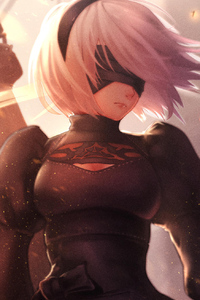 480x854 2b Nier Automata Digital Art