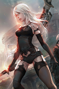 320x480 2b Nier HD Art