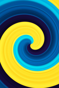 240x320 3d Abstract Swirl Yellow Blue 5k