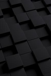 3D Black Cube