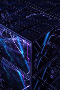 1280x2120 3d Cube Art 4k