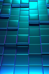 640x960 3d Cube Background 4k
