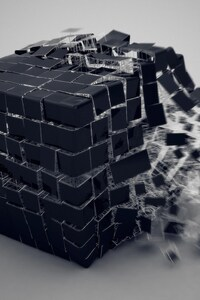 800x1280 3d Cube Burst