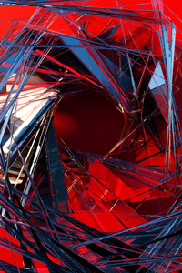 360x640 3d Glass Abstract Art
