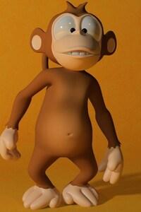 240x320 3D Monkey