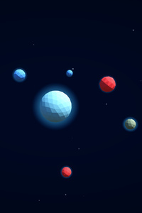 360x640 3d Planets