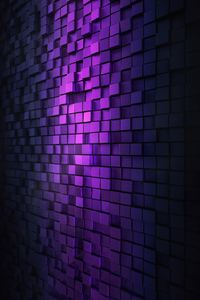 480x800 3d Purple Wall Abstract 4k