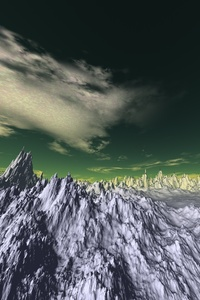 3d Snow Panaromic Mountains
