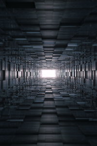 640x960 3d Tunnel Abstract 8k