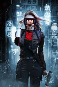 404 Error Cyberpuk Girl