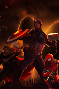 4k Art Avengers Endgame