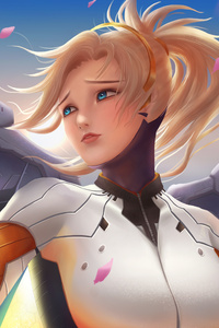 1080x2280 4k Art Mercy Overwatch