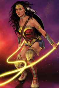 540x960 4k Art Wonder Woman