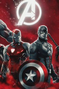 1280x2120 4k Avengers Endgame Artwork