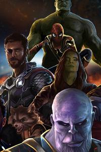320x568 4k Avengers Infinity War Art