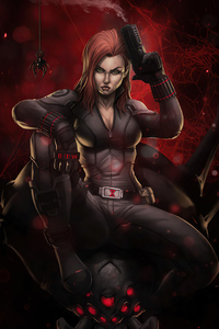 240x320 4k Black Widow 2020 Artwork