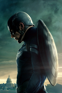 750x1334 4k Captain America