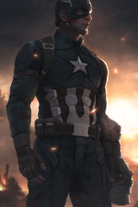 1125x2436 4k Captain America 2020 Artwork