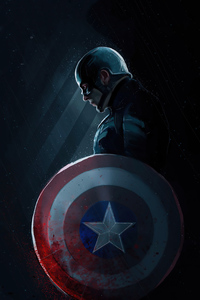 1125x2436 4k Captain America Art 2020