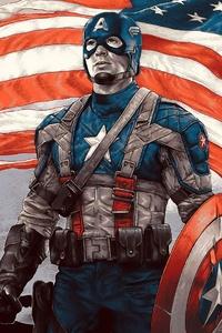 1125x2436 4k Captain America Hero