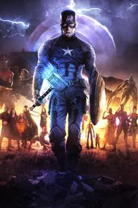 1440x2960 4k Captain America In Avengers Endgame