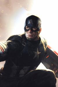750x1334 4k Captain America Mjolnir Avengers Endgame 2019
