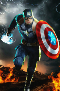 1280x2120 4k Captain America New