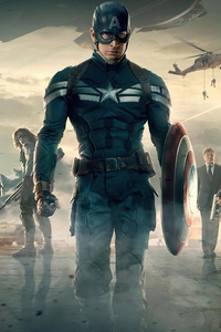 320x568 4k Captain America The Winter Soilder Movie