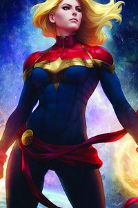 240x320 4k Captain Marvel Art 2020