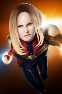 1080x2280 4k Captain Marvel Art