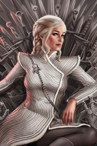 480x854 4k Daenerys Targaryen Art