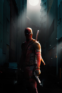 240x400 4k Deadpool 2020 Art