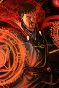 240x400 4k Doctor Strange Artwork