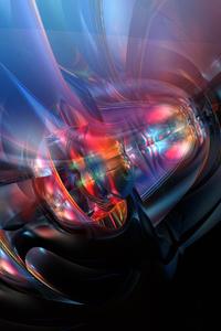 800x1280 4k Fusion Abstract