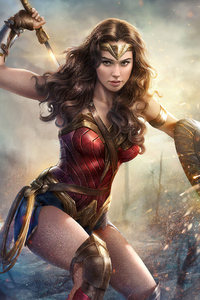 320x568 4k Gal Gadot Wonder Woman