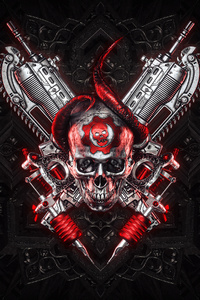 2160x3840 4k Gears Of War Logo Art