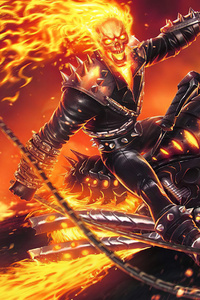 640x960 4k Ghost Rider Contest Of Champions
