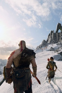 540x960 4k God Of War 4 Kratos And Atreus 2018