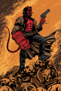 4k Hellboy Artwork