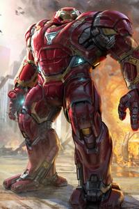 1080x1920 4k Hulkbuster Art