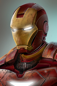 240x320 4k Iron Man Art