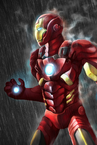 640x960 4k Iron Man Artwork