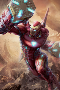540x960 4k Iron Man Suit 2020