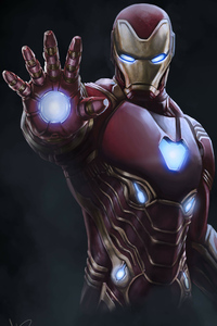 640x960 4k Iron Man Suit
