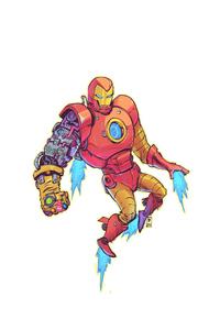 240x320 4k Iron Man Suit Infinity Gauntlet